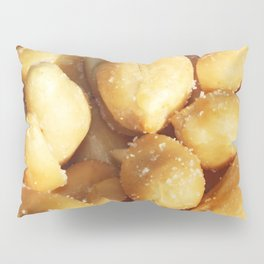 food, many small salted peanuts Pillow Sham