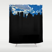 nyc Shower Curtains featuring NYC by trebam