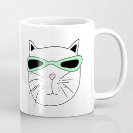 Cat Mint Sunglasses Coffee Mug