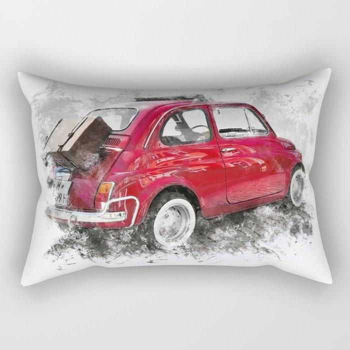 Rosso Fiat Rectangular Pillow
