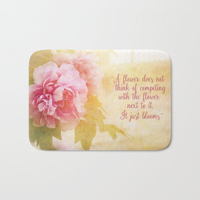 Pink Rose Bath Mat