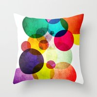 bubbles Throw Pillows featuring Bubbles by Lawson Images