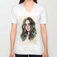 west coast V-neck T-shirts featuring   West Coast  by vooce & kat