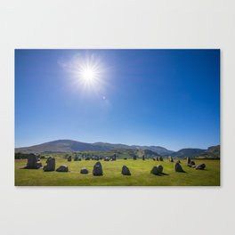 Castlerigg Stone Circle in English Lake District Canvas Print