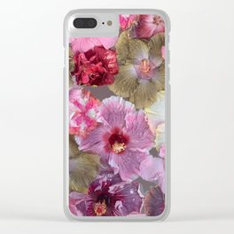 Hibiscus glow Clear iPhone Case