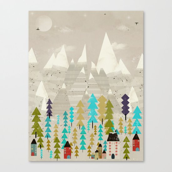 happy in the mountains Canvas Print