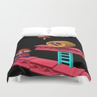 donkey kong Duvet Covers featuring Inside Donkey Kong by Metin Seven