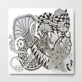 Zentangle i95 Metal Print