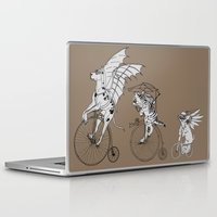 steam punk Laptop & iPad Skins featuring Steam Punk Pets by Rebecca Pocai