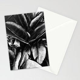 Dark Palm Leaves Stationery Cards
