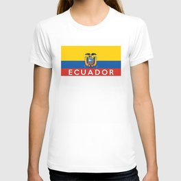 Ecuador country flag name text T-shirt