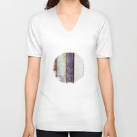 wood V-neck T-shirts featuring Wood by Carola Paas