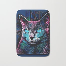 CAT COLORFUL Bath Mat
