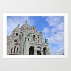 Blue skies in Paris Art Print