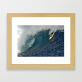 HAWAII'S KOHL CHRISTENSEN CLOUDBREAK Framed Art Print