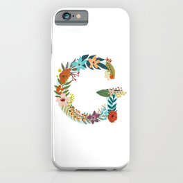 Monogram Letter G iPhone Case