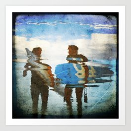 Two surfers Art Print