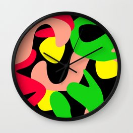 Colour Mash Dark Wall Clock