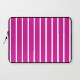 Pink and White Stripes Laptop Sleeve
