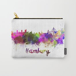 Hamburg skyline in watercolor Carry-All Pouch