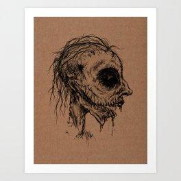 Dead Zombie Art Print