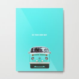 Blue way Metal Print