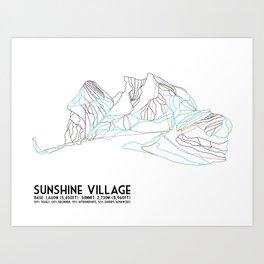 Sunshine Village, Alberta, Canada - Minimalist Trail Art Art Print