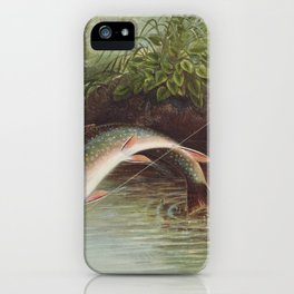 Leaping Brook Trout iPhone Case