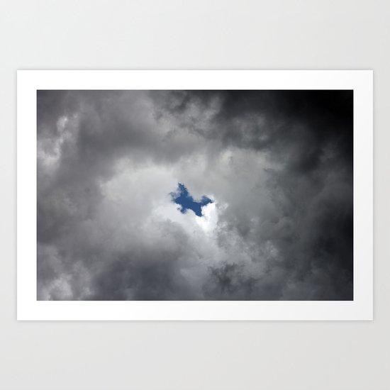 Jumping thru the clouds Art Print
