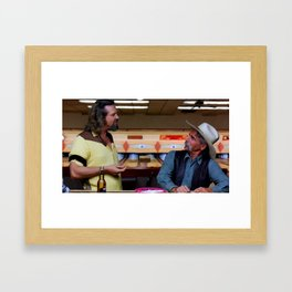 Jeff Bridges & Sam Elliot @ The Big Lebowski (Joel and Ethan Coen - 1988) Framed Art Print