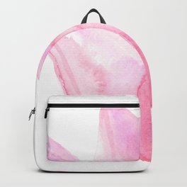 Letting Go - Beautiful Pink Tulip Watercolor Backpack