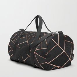 Velvet Black & Rose Gold Duffle Bag