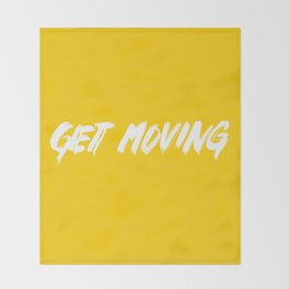 Get Moving! Throw Blanket
