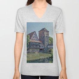 Romantic Nuremberg, -Franken-Bavaria-Germany Unisex V-Neck