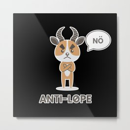 Antilope Anti No Metal Print