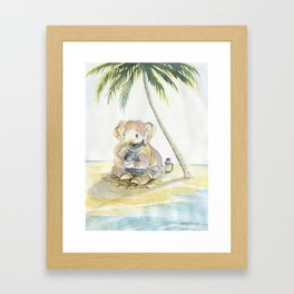 Dreamy Baby Elephant Framed Art Print