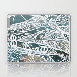 Feathery Design in Emerald Green Laptop & iPad Skin