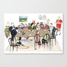Family Dinner Canvas Print