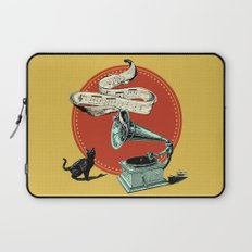 The Cat and the Cat Song (red) Laptop Sleeve