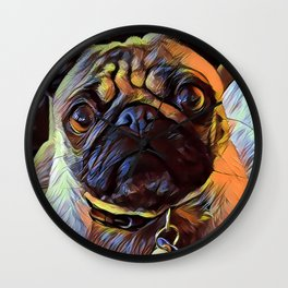 The PUG from our POP YOUR POOCH line Wall Clock