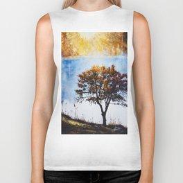 "Original Painting ""Foggy Sunrise"" Biker Tank"