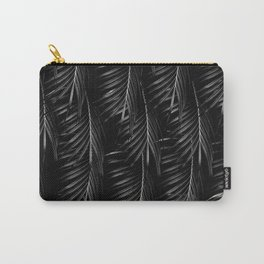 Palm Leaves Pattern - Black Night #1 #tropical #decor #art #society6 Carry-All Pouch