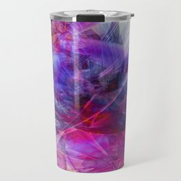 Digital Floral Abstract Travel Mug