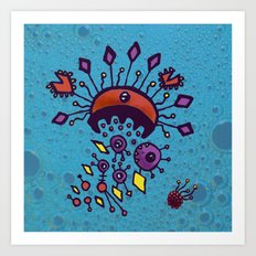 Sea of Atoms - Crab Molecule Art Print