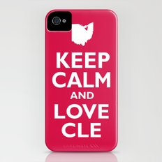 Keep Calm and Love CLE iPhone (4, 4s) Slim Case