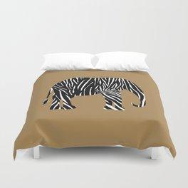 Zebra Elephant Safari Duvet Cover