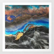 Storm Brewing - Fluid art on canvas Art Print