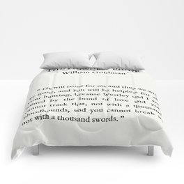 """Book Page - The Princess Bride """"The Bond of Love"""" Quote Comforters"""