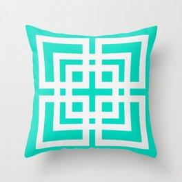 Tiled Mint Throw Pillow