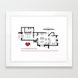 Lucy and Ricky Ricardo home from 'I LOVE LUCY' Framed Art Print